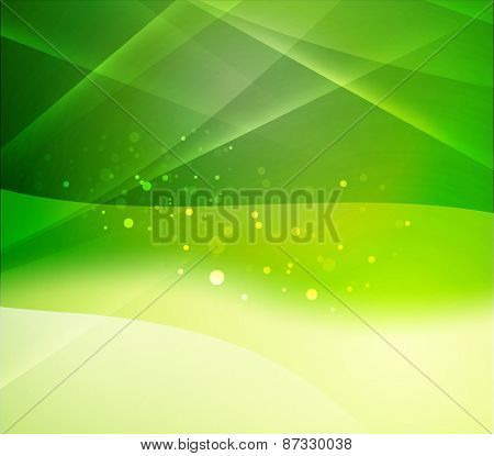 Color green eco and light, waves and lines. Abstract background