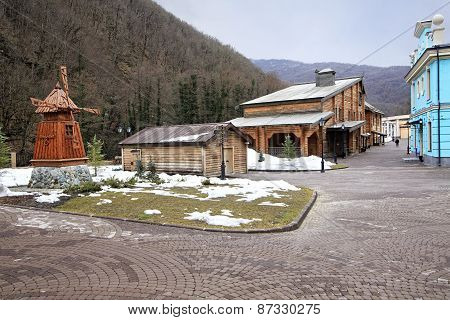 Historic architecture of Russian North. Cultural and ethnographic center My Russia.