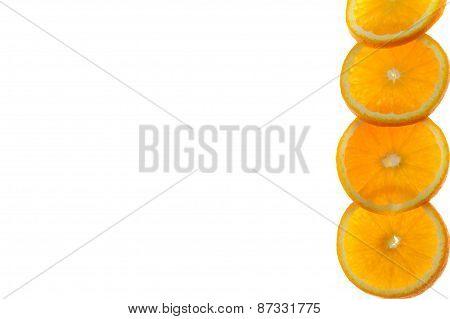 Background Made Of Juicy Oranges
