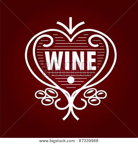 Loop Vector Logo Barrel Of Wine In The Form Of Heart