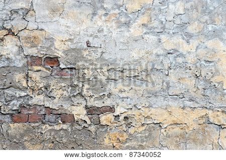 Brick Wall With Old Plaster