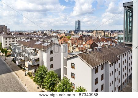View Of The Houses From Poelart Place In Bruxelles