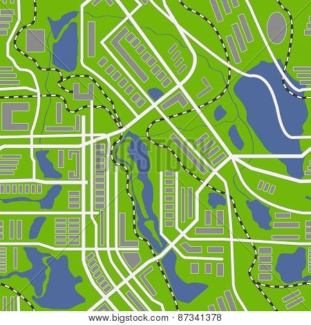 City map generator. Seamless pattern