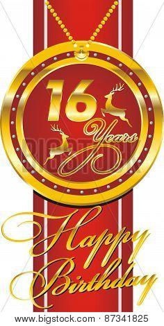 Background - Happy Birthday Sixteen Years [