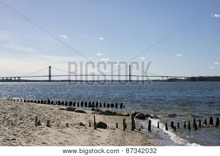 Bridge View From Beach