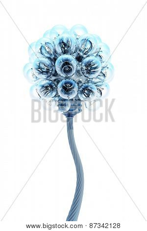 dandelion made from electric bulbs, electricity concept