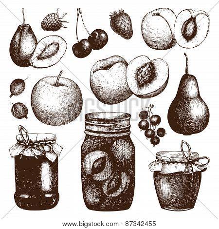 Jam jars sketch