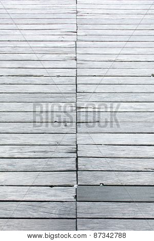 Background Texture Wood, Old Footbridge From Weathered Gray Planks