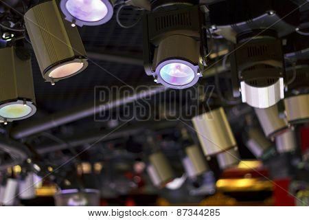 Powerful Projectors In Modern Night Club