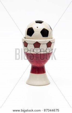 Utensils For Salt In The Form Of A Soccer Ball