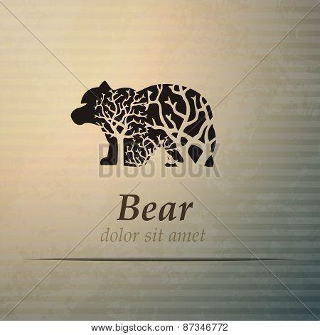 Vector Bear American Labels