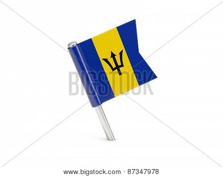 Flag Pin Of Barbados