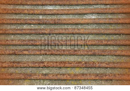 Rusty Staves Metal Texture Background