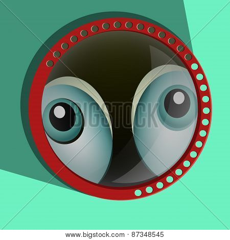 Funny spying eyes.  Eyeballs vector.  Staring - Surprised