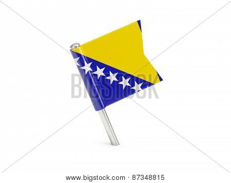 Flag Pin Of Bosnia And Herzegovina