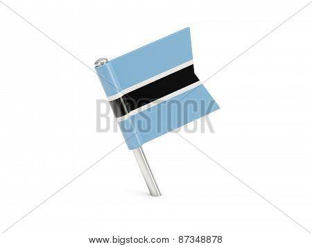 Flag Pin Of Botswana