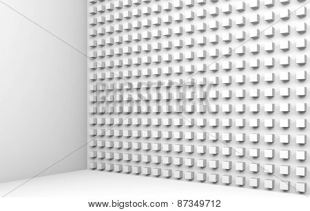 Abstract Architecture Background With Small Cubes Pattern