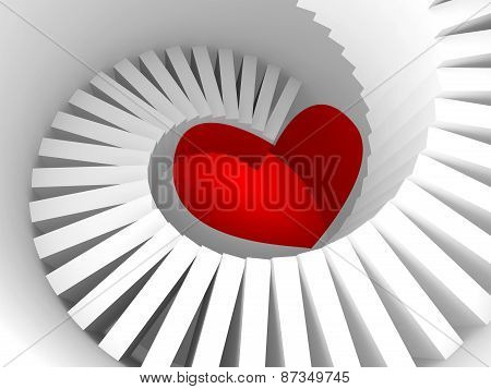 The Way To The Heart, 3D Illustration Metaphor