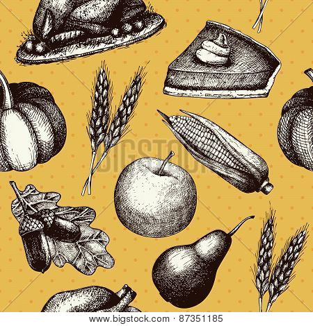 Harvest vintage background