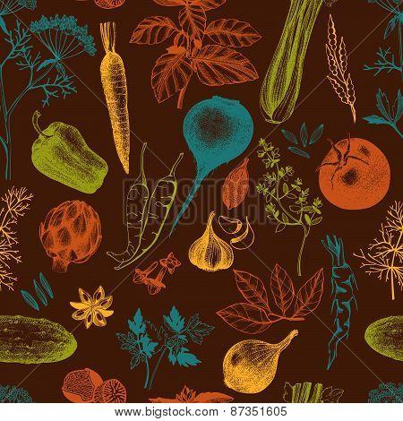 Decorative food background.