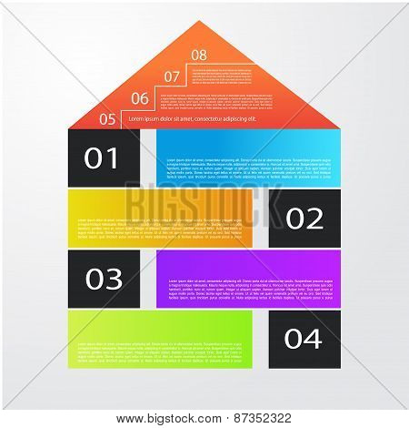 City Banner Illustration With Colorful Icons Infographics