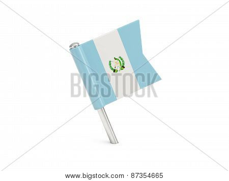 Flag Pin Of Guatemala