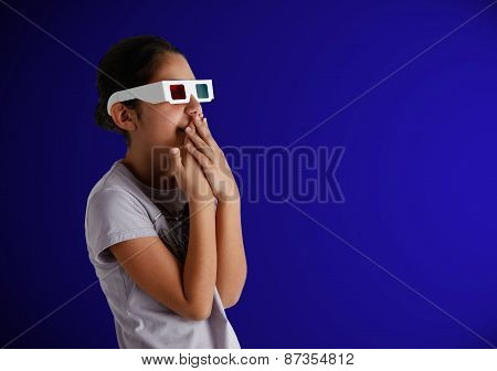 Young Caucasian Teen With Glasses 3D