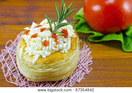 Homemade Pastry With Cheese
