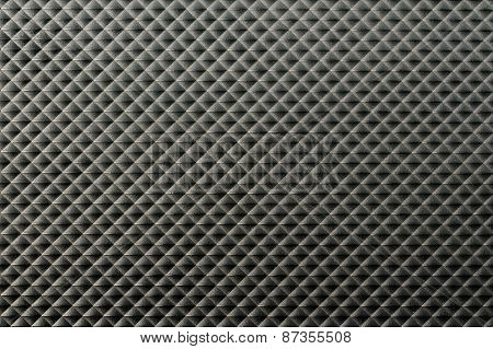Black Plastic Surface With Dirty Rough Texture