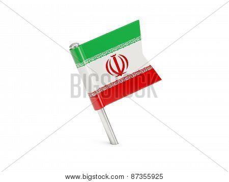 Flag Pin Of Iran
