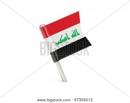 Flag Pin Of Iraq
