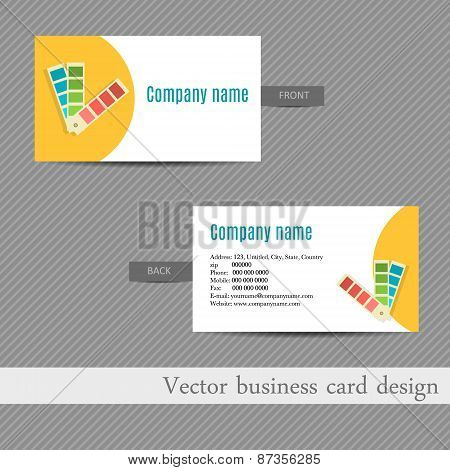 business card design for an advertising agency