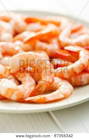 the tasty prawns on plate