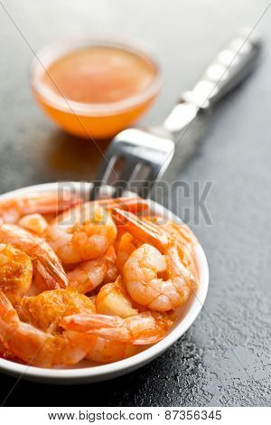 grilled prawns in a bowl