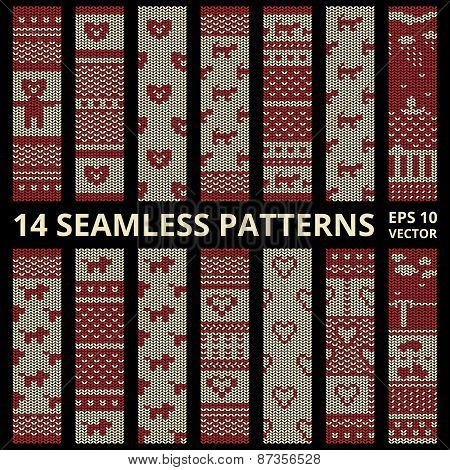Fabric Stitched Background Patterns