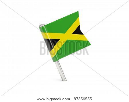 Flag Pin Of Jamaica