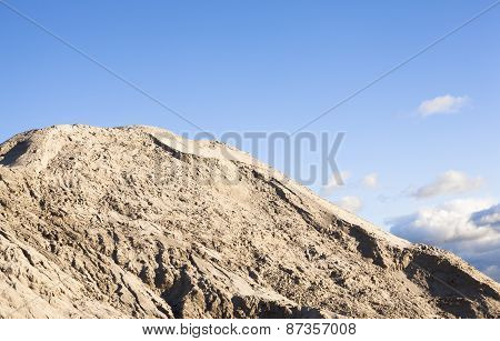 Pile Of Sand And Blue Sky Over It