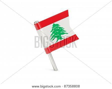 Flag Pin Of Lebanon