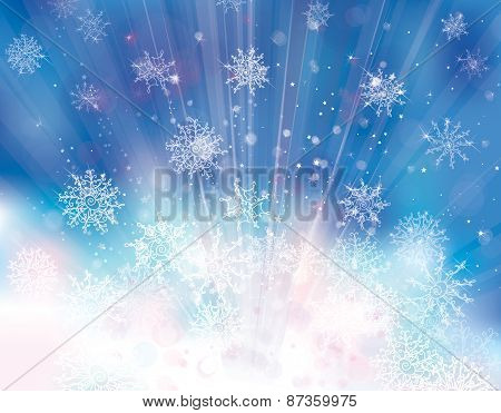 Vector blue Christmas background.