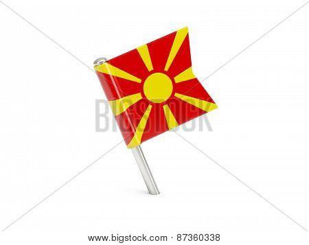 Flag Pin Of Macedonia