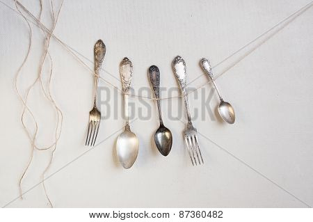 Cutlery Hangs On The String