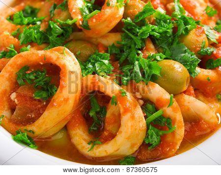 Stewed Squids