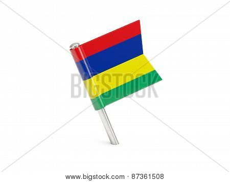 Flag Pin Of Mauritius