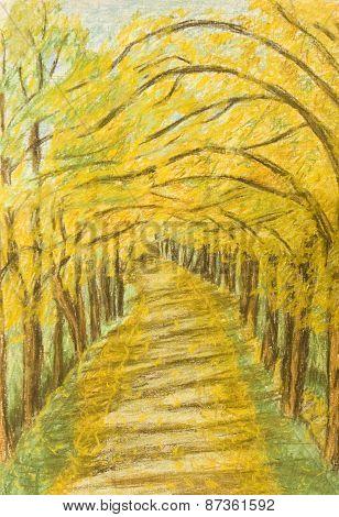 Autumn Landscape, Painting