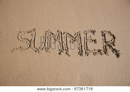 Summer Text In Earth