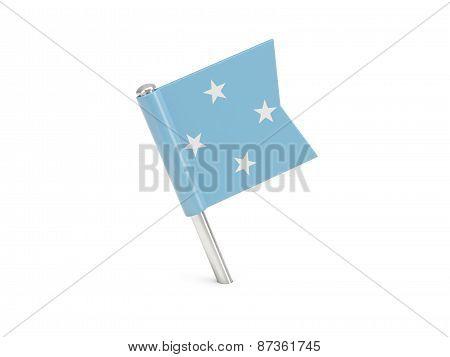 Flag Pin Of Micronesia