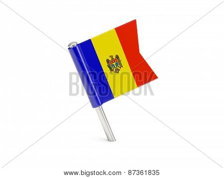 Flag Pin Of Moldova