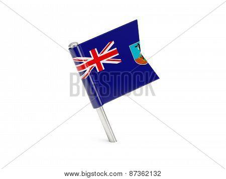 Flag Pin Of Montserrat