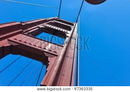 The Golden Gate Bridge Pillar,San Francisco
