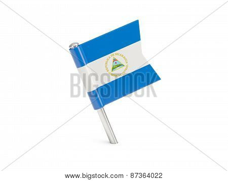 Flag Pin Of Nicaragua
